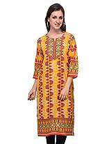 Diti Women Orange Printed Kurti - 1024OR