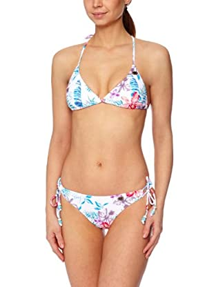 Roxy Bikini Multi Hawaian Lowrider (Blanco / Azul)