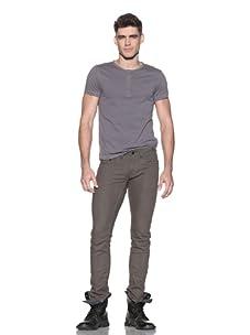 Comune Men's David Skinny Twill Pant (Dark Olive)