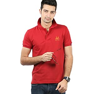Solid Red Polo T Shirt