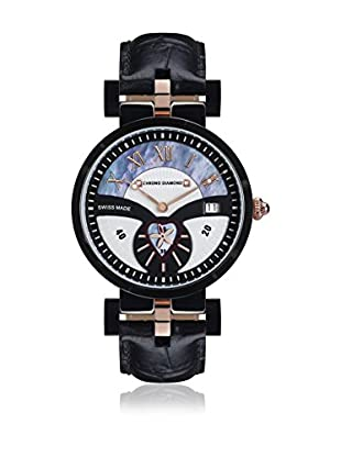 Chrono Diamond Reloj con movimiento cuarzo suizo Woman 11910C Feronia Negro 38.0 mm