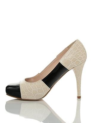 Furla Zapatos Salón Laila (Negro / Marfil)