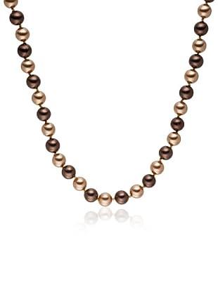 Perldor - 60650202 Collar de mujer Gris de ley con perla natural Chocolate 45 cm