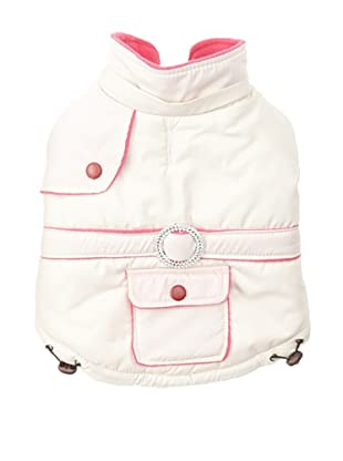 Pet Life Two-Toned Fashion Parka (Beige/Pink)
