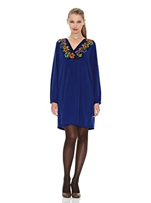Tonalá Vestido Dorado (Azul)