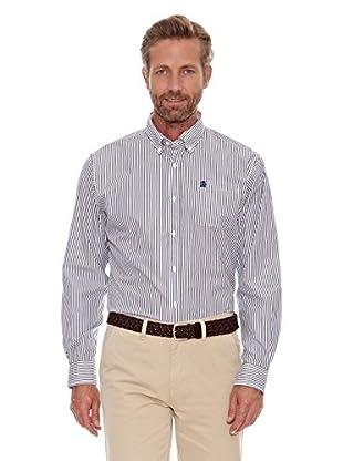 Cortefiel Camisa Bicolor (Azul)