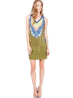 Custo Vestido Flavia Caqui (Caqui)