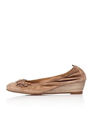 Bisue Zapatos  Cuña (Tostado)