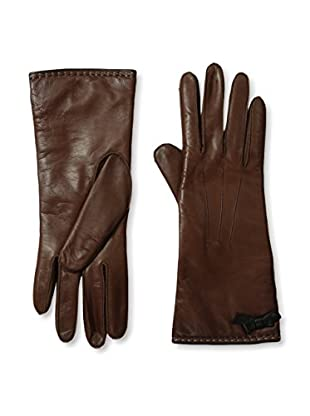 Portolano Women's Contrast Piping Leather Gloves (Cork/Black)