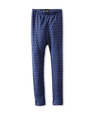 A for Apple Ren Leggings with Leaves Print (Blue)
