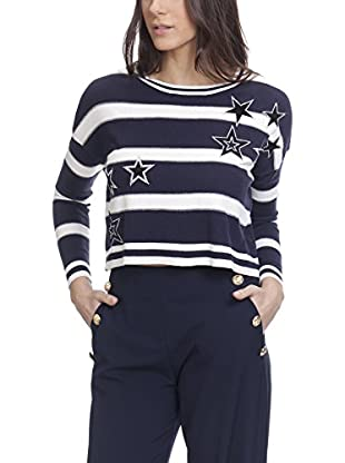 Tantra Pullover Knitted Stripes Pull With Sequins Stars