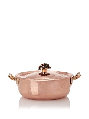 Amoretti Brothers 10.5-Quart Hand-Hammered Copper Sauté Pan