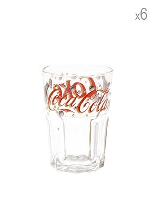 Set 6 Bicchieri Bubbles Coca Cola 36cl