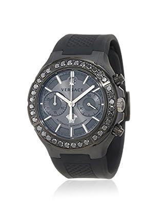 Versace Men's 26CCS76D455 S009 DV One Black/Grey Ceramic & Rubber Watch