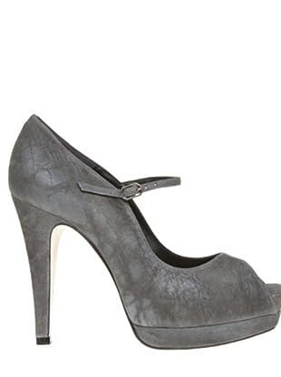 Magrit Zapatos Peep Toe (gris)
