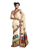Anvi Creations Net Saree (Moh6116 _Cream)