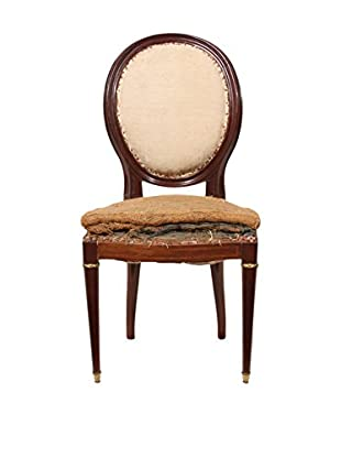 French Shabby Chic Style Chair, Brown