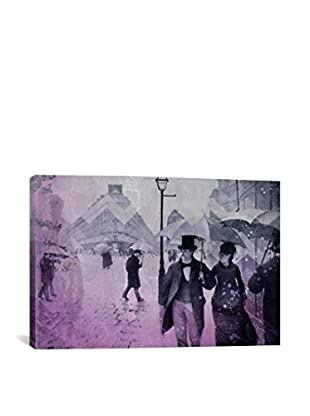 Paris Street III Gallery Wrapped Canvas Print
