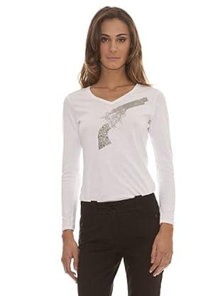 Trussardi Camiseta Punto Básica (blanco)