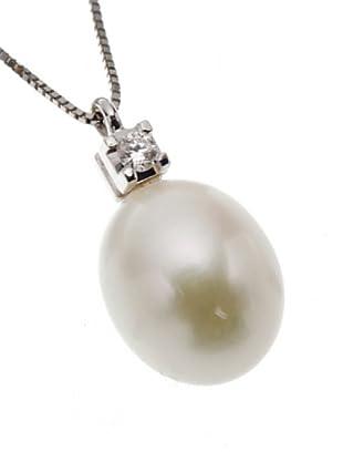 Emi Kawai Kette Weißgold 18k Brillant Perle 8 mm