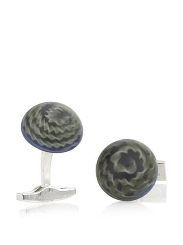 Daniel Dolce Men's Handmade Lampwork Glass Cufflinks, Green