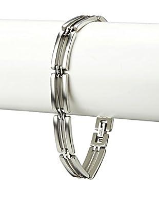 BlackJack Brushed & Polished Stainless Steel Slick Link Bracelet