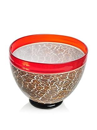 La Meridian Crackled Art Glass Bowl