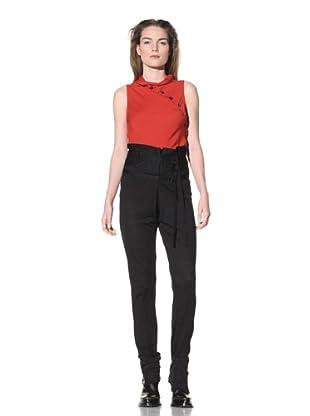 Ann Demeulemeester Women's Belted Knit Trousers (Black)