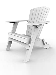 Malibu Outdoor Furniture Hyannis Folding Adirondack Chair (White)