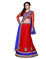 Surupta Wonderful Red Wedding Party Wear Lehenga Choli