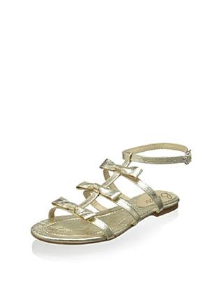 Butter Women's Amaze Gladiator Flat Sandal (Platino)