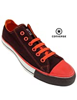Converse All Star Men's Canvas Shoe 111137-Coffee/Orange