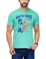 Yepme Men's Green Graphic Cotton T-shirt -YPMTEES0170_M