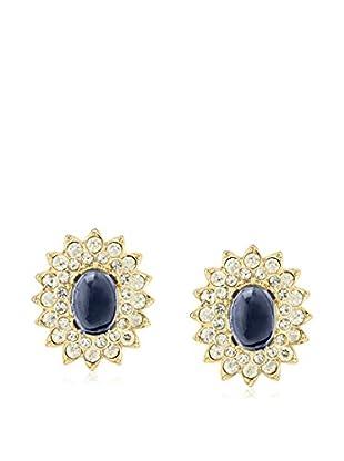 Kenneth Jay Lane Sapphire Blue Fancy Oval Earrings