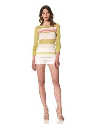 M. Patmos Women's West Coast Striped Sweater