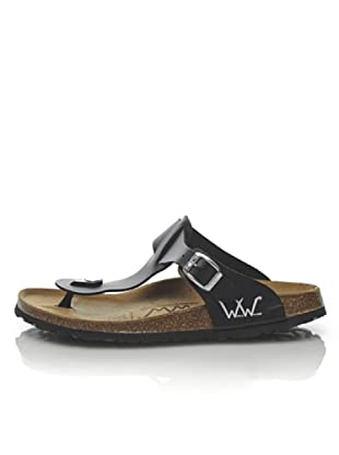 World Walker Licensed by Birkenstock Sandalo Tess Birko (Nero)