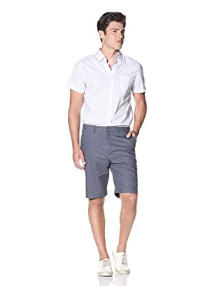 Slate & Stone Men's Buio Flat-Front Short (Navy)