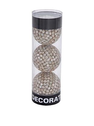 Set of 3 Capiz Filler Balls