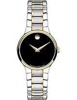 Movado Serio Analogue Black Dial Women's Watch - 606389