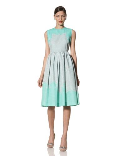 Jonathan Saunders Women's Caro Sleeveless Dress (Star Jade)