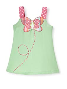 Beetlejuice Girl's 2T-6X Butterfly Kisses A-Line Dress (Green)