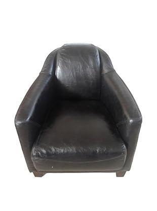 Mélange Home Canterbury Leather Chair, Belon Black