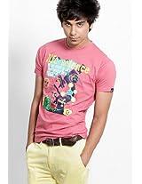 Pink Crew Neck T Shirts