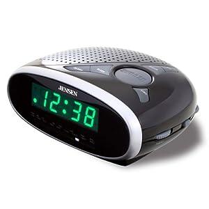 Jensen JRC-175 AM/FM Alarm Clock Radio - Black