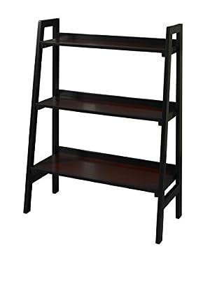 Linon Home Décor Camden 3-Shelf Bookcase, Black Cherry