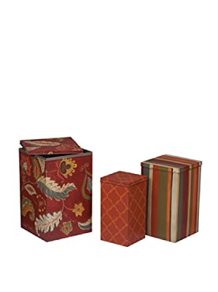 Psc Painted Tin Boxes