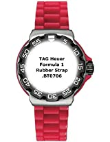TAG Heuer Formula One Red Rubber Strap BT0706