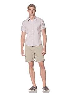 Rhythm Men's Touche Woven Short Sleeve Shirt (Khaki)