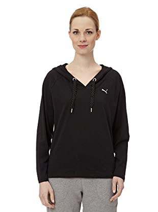 Puma Damen Langarmshirt Lightweight Coverup Top I (cotton black heather)