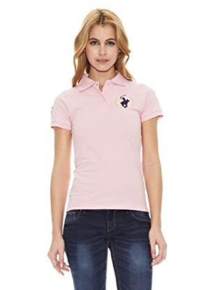 Polo Club Polo Manga Corta Custom Fit Logo (Rosa)